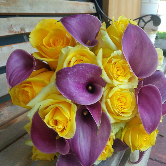 The Floral Revelry Florist - wedding in yellow and purple
