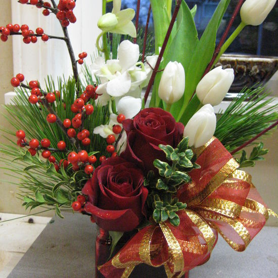 The Floral Revelry Florist - Red and White Christmas Delight