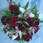 Flower arrangement titled Love is like Velvet