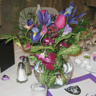 Flower arrangement titled The Colour of Purple