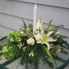 Flower arrangement titled Glad Tidings