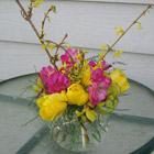 Flower arrangement titled A Heated Moment