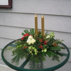 Flower arrangement titled Festive Illumination