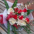 Flower arrangement titled For Exotic Lovers