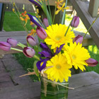 Flower arrangement titled Sunny Hello