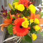 Flower arrangement titled Thinking About Sherbert