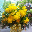 Flower arrangement titled Golden Days