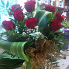 Flower arrangement titled Red rose Pizazz