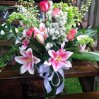 Flower arrangement titled Lilies My Love