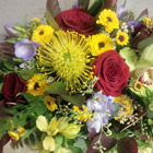 Flower arrangement titled A centerpiece with Presence