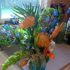 Flower arrangement titled Blue Summer