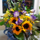 Flower arrangement titled Yellow Sentiments