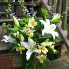 Flower arrangement titled At Peace
