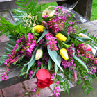 Flower arrangement titled The Anticipation of Spring