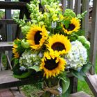 Flower arrangement titled The Gift of Sun