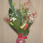 Flower arrangement titled Bountiful Bouquets