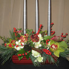 Flower arrangement titled Illuminating Elegance