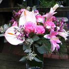 Flower arrangement titled Majestic In Pink