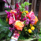 Flower arrangement titled A bouquet with Pizazz