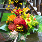 Flower arrangement titled A Little Bit Funky