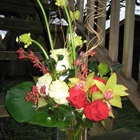 Flower arrangement titled Seasons Greetings Extraordinaire