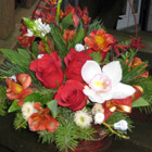 Flower arrangement titled To Warm A Frosty Day