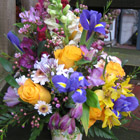 Flower arrangement titled Spring Embrace