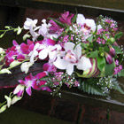 Flower arrangement titled Presence of Orchids