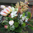 Flower arrangement titled Untamed Beauty