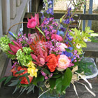 Flower arrangement titled mille` de fleur