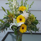 Flower arrangement titled A Pure Intent