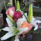 Flower arrangement titled Lily Majesty