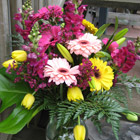 Flower arrangement titled Tradition with a Twist
