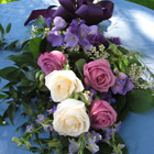 Flower arrangement titled A Walk in a Rose Garden