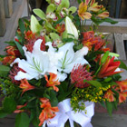 Flower arrangement titled Exotic Expressions
