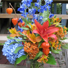 Flower arrangement titled Garden Party