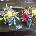 Flower arrangement titled A Riot Of Color