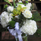 Flower arrangement titled Heartfelt Condolences